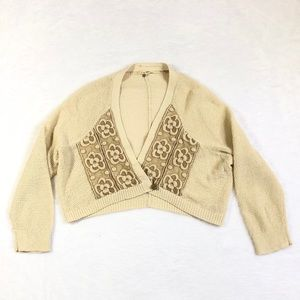 Anthropologie Knitted Knotted Crop Bolero Cardigan